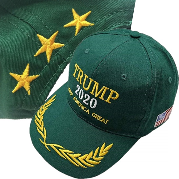 Donald Trump 2020 USA Flag Style Mossy Oak Adjustable Hat with USA Flag Brim